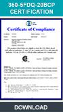 360 Fill&Drain, Bath Drain, Certification Record