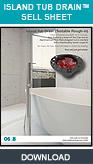 Freestanding Bath Tub Drain, Island Tub Drain™