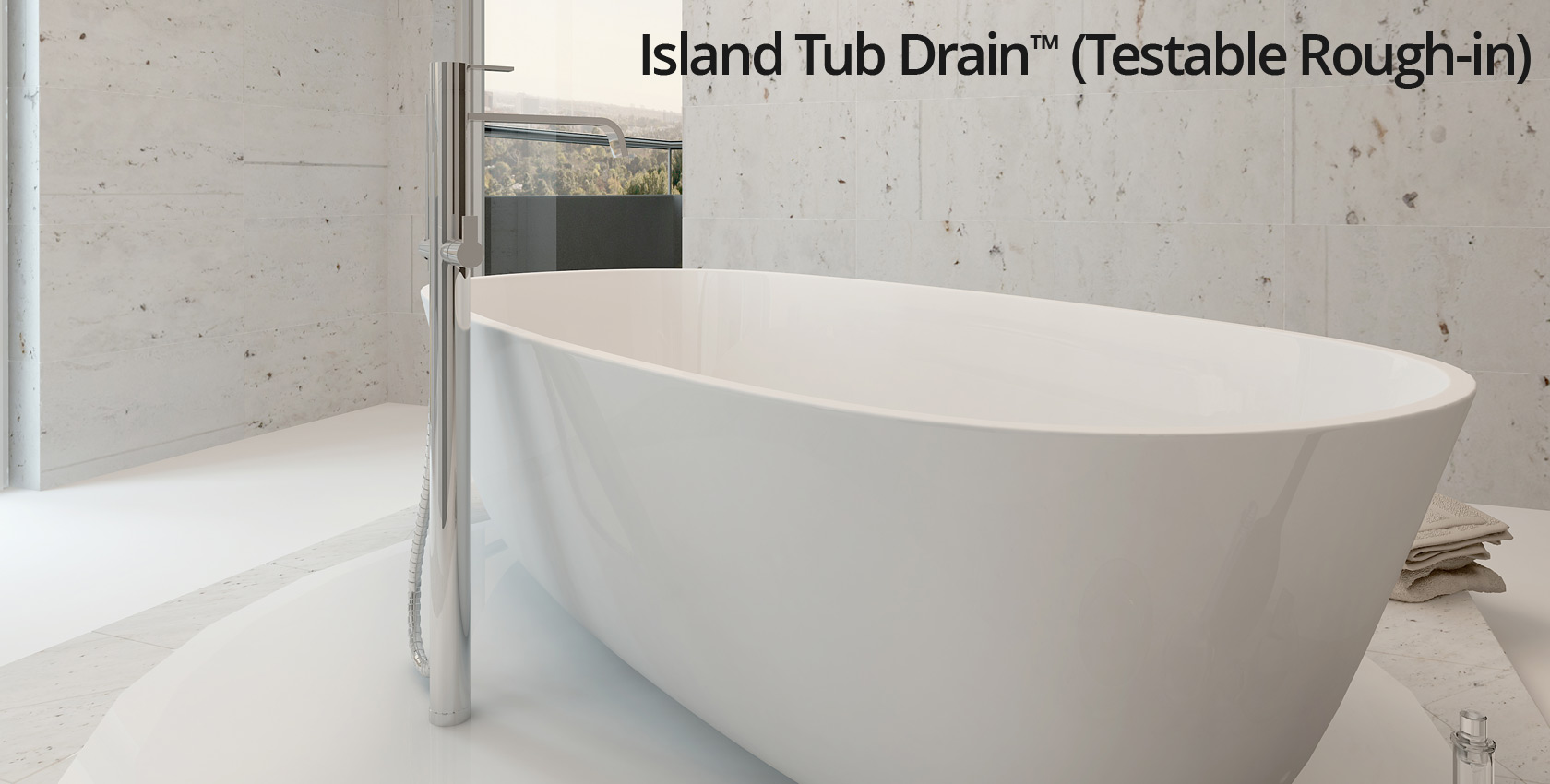 Island Tub Drain™ (Testable Rough-in)